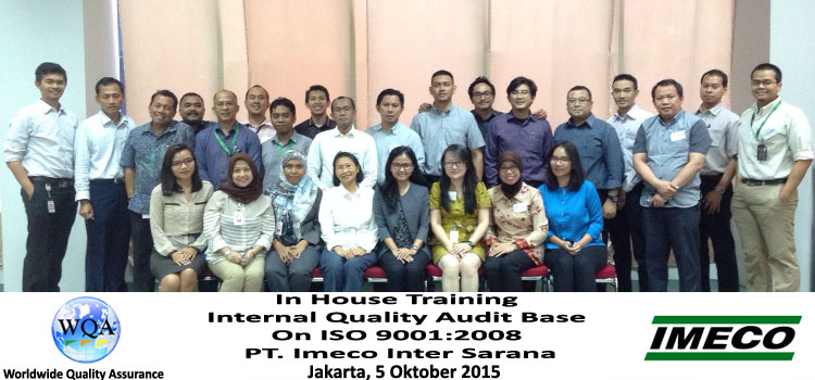 Inhouse Training Internal Auditor ISO 9001 PT. Imeco Inter Sarana