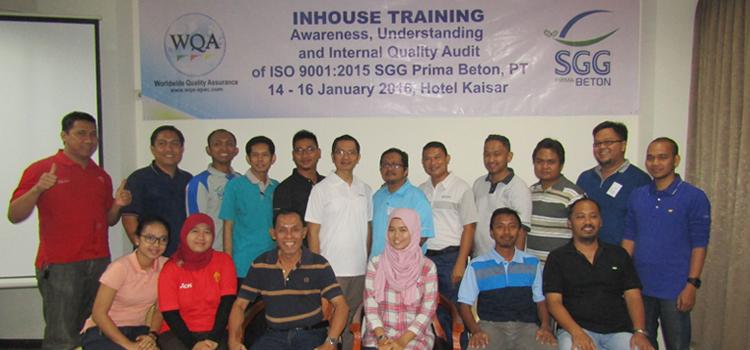Inhouse Training Internal Quality Auditor ISO 9001 2015