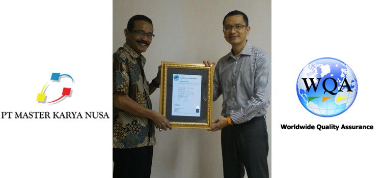 Serah Terima Sertifikasi ISO PT Master