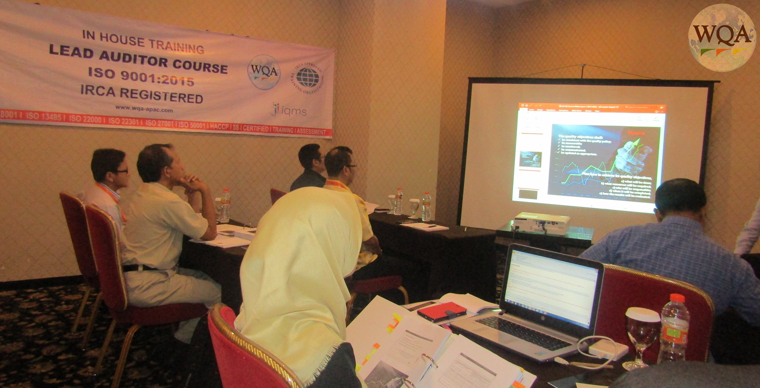 in house training - pt. pertamina lubricants - LAC ( lead auditor course ) iso 9001 2015 - wqa apac