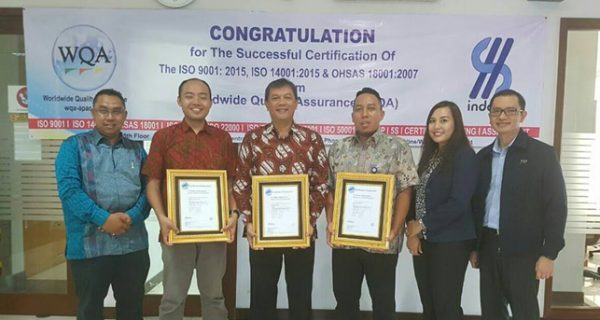 PT. Indospec Integrity Solution Sukses Mendapatkan 3 Sertifikat Standar Internasional