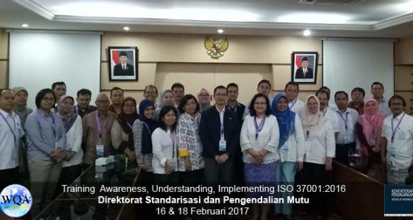Training ISO 37001 – Direktorat Standarisasi & Pengendalian Mutu