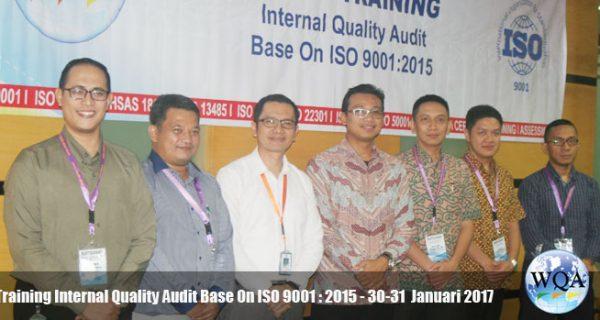 Training Internal Audit Base On ISO 9001 : 2015 –  30-31 Januari 2017