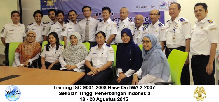 Inhouse Training Training ISO 9001 2008 STPI