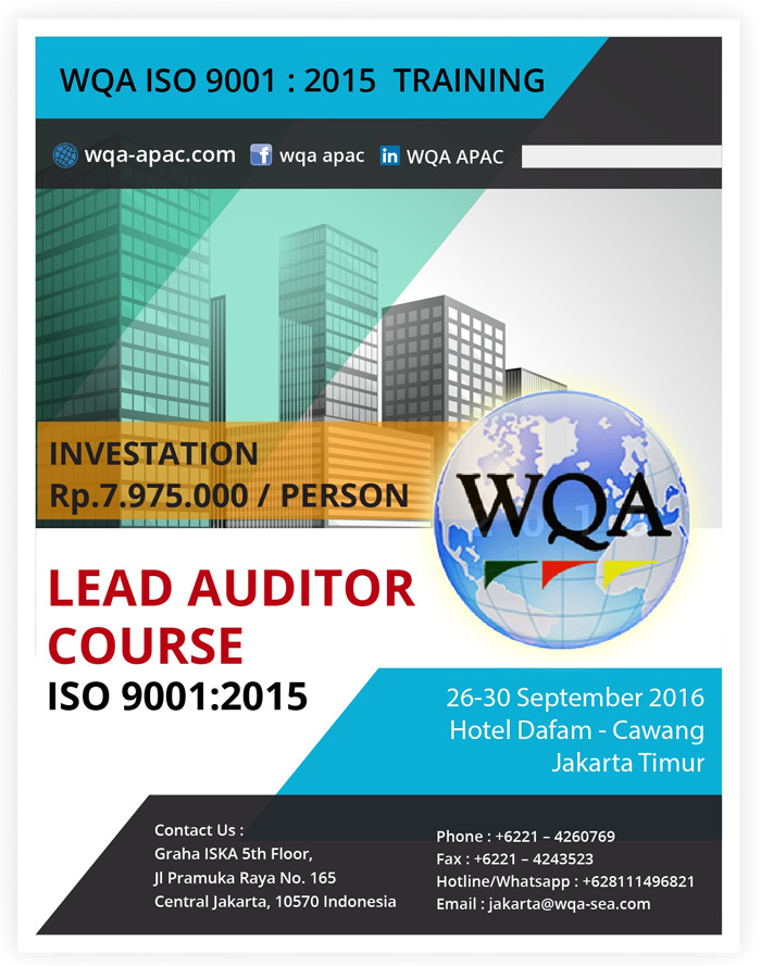 WQA ISO 9001 2015 TRAINING